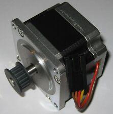 Bipolar Stepper Motor with Metal Cog Belt Gear - 200 Steps / Rev - Short NEMA 23