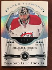 2016-17 UD Black Diamond Hockey Diamond Relic Rookies Charlie Lindegren 96/99