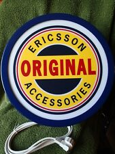 COLLECTORS DREAM !! VINTAGE UNUSED ERICSSON TELEPHONE ADVERTISING LIGHTED SIGN