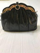Vintage Black Judith Leiber Purse Shoudler Bag with Jewels