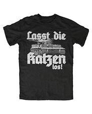 Lasst die Katzen los M2 T-Shirt Katze,Panzer,ww2,Tigerpanzer,Reich,Kult,Militär