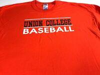 Union College Baseball T-Shirt Mens 2XL Dutchmen New York Student Alumni Grad