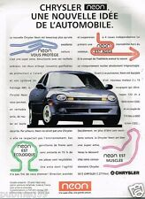 Publicité Advertising 1995 Chrysler Neon