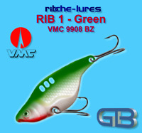 Cicaden, Green, Kunstköder original RIBCHE LURES, VMC 9908 BZ 8g - 20g