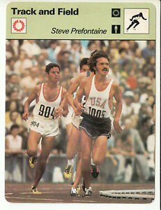STEVE PREFONTAINE Running Track and Field 1978 SPORTSCASTER CARD 19-08 Rookie RC