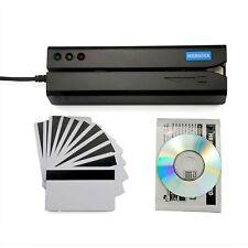 Deftun MSR605X USB Magnetic Stripe Swipe Credit Card Reader Writer Encoder MS...
