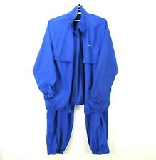 Nike Mens Blue Track Suit Warm Up Jacket And Zip Pants Size 3XL