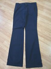 Womens Size 10 T Tall Old Navy Blue Flat Front Boot Cut Pants Stretch 34 x 35