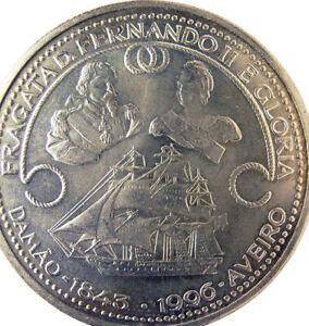 Portugal 🇵🇹Silver Coin 1000$ Escudos 1996 King Fernando II Gloria Frigate Ship