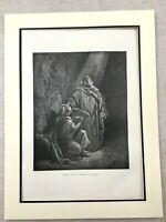 Old Religious Art Victorian Bible Print Baruch Jeremiah the Prophet 1870