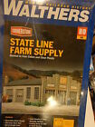 "Walthers HO #933-2912 State Line Farm Supply -- Kit - 7-1/4 x 5-3/8 x 3"" (Kit)"
