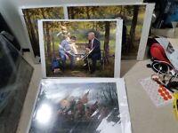 x4 Jon McNaughton CROSSING THE SWAMP 11 x 14 Donald Trump Delaware River Art