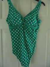 BODEN TWISTED FRONT SPOT SWIMSUIT SIZE 12 BNWOT WS037