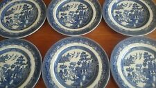 Set of 6@Look@ Jo Bro willow pattern Large Dinner Plates 10inch in PC