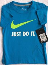 NIKE Short Sleeve Tee T Shirt Active Wear Size 3T Turquoise Blue Just Do It.