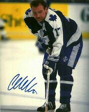 VINTAGE WENDEL CLARK SIGNED TORONTO MAPLE LEAFS 8x10 PHOTO #1 Autograph