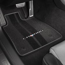 2016-2018 Camaro Genuine GM Front & Rear Floor Mats Black Camaro Logo 23240684