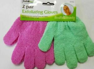 Exfoliating Gloves-Bath Mitt-Shower Scrub-Skin Care-Massage Spa Soft Face/Body