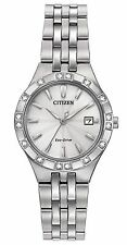 Citizen Eco-Drive Women's EW2330-51A Diamond Accents Silver Tone Watch