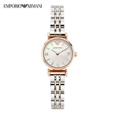 NEW EMPORIO ARMANI WHITE MOTHER OF PEARL DIAL LADIES WATCH AR1764