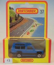 Matchbox Superfast nº 37 matra Simca Rancho azul nº 1 alemana Hösbach OVP #013