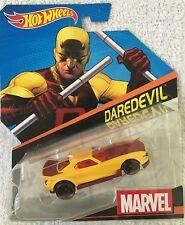 Hot Wheels Marvel DAREDEVIL Yellow Car 1:64 Diecast Walgreens Dare Devil Exclusv