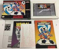 Hurricanes (Super Nintendo SNES) CIB 100% Complete Near Mint Rare Condition