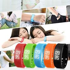 Digital LCD Pedometer Calorie Counter Run Step Walking Distance Watch Bracelet