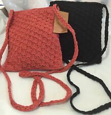 Gold coast 2 crossbody neck purses crossbody satchel in Black and Salmon colors