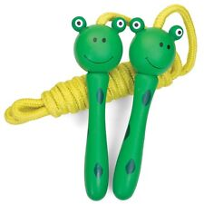 Tobar Kids Green FROG Wooden Skipping Rope Girls Boys Birthday Gift Cute Toy Box