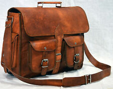 Men's Genuine Leather Handbag Briefcase Laptop Shoulder Bag Vintage Backpacks