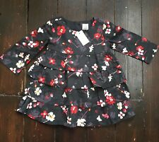 BNWT New Tags Baby Gap Floral Dress Ruffles 12-18 Months 100% Cotton