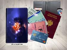 halloween - chat 008 porte cartes permis passeport grise
