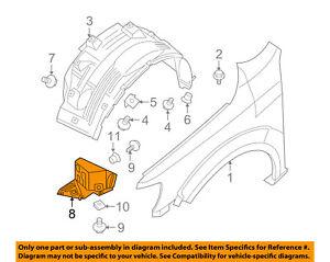 For 2012-2019 Nissan NV2500 Inner Fender Right Passenger Side 67628ZG 2013