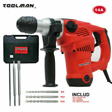 Toolman Electric Power Drill Driver 14 Amp 730RPM Rotary Hammer For Heavy Duty