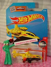 Case B 2016 i Hot Wheels SKY KNIFE #212✰Yellow/Black/Red chopper✰HW RESCUE