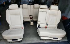 08 BMW X5 E70 2nd & 3rd Second / Third Row Seat Leather Seats 6983889 SET TAN