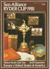 1981 Ryder Cup Program -  Free Shipping