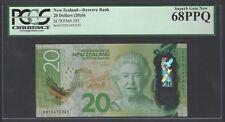 New Zealand 20 Dollars (2016) P193 Uncirculated Graded 68