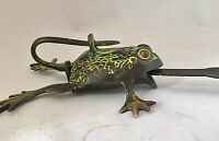 FROG Head LOCK Big Padlock brass keys Golden antique look Owl Pad Vintage lion
