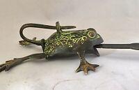 FROG Head LOCK Big Padlock brass keys Golden antique look Owl Pad Vintage lion
