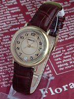 RAKETA DATE  VINTAGE MENS MECHANICAL watch Made in USSR GOLD PLATED