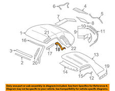GM OEM Convertible/soft Top-Seal Right 10324744