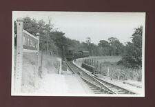 Devon WHITEHALL HALT RAILWAY Station loco#1429 train from HEMYOCK 1958 photo