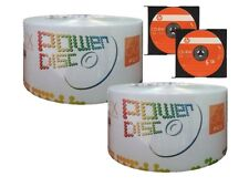 100 Power Disc Brand 16X Logo Top Blank DVD-R Disc + 2 HP CD-RW Disc