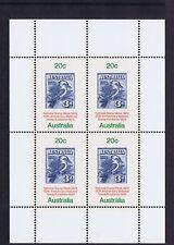 Australian Decimal Stamps 1978 National Stamp Week Mini Sheet and Single MNH