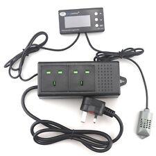 THC-220 UK Plug Digital LCD Temperature Humidity Controller Thermostat Hygrostat