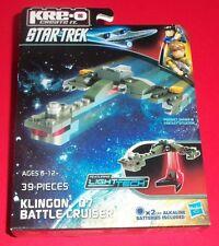 Hasbro Kre-O Star Trek -New- Klingon D7 Battlecruiser -Light Tech Light Up Stand