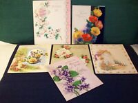 MOTHER'S DAY/ BIRTHDAY cards Antique Vtg 30's 50's lot of 6 used