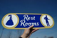 OLD STYLE 2 FT SUNOCO GULF EXON SHELL AMOCO STATION RESTROOM STL SIGN USA MADE